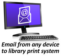 Email from any device directly to Library Printers with MobilePrint Service