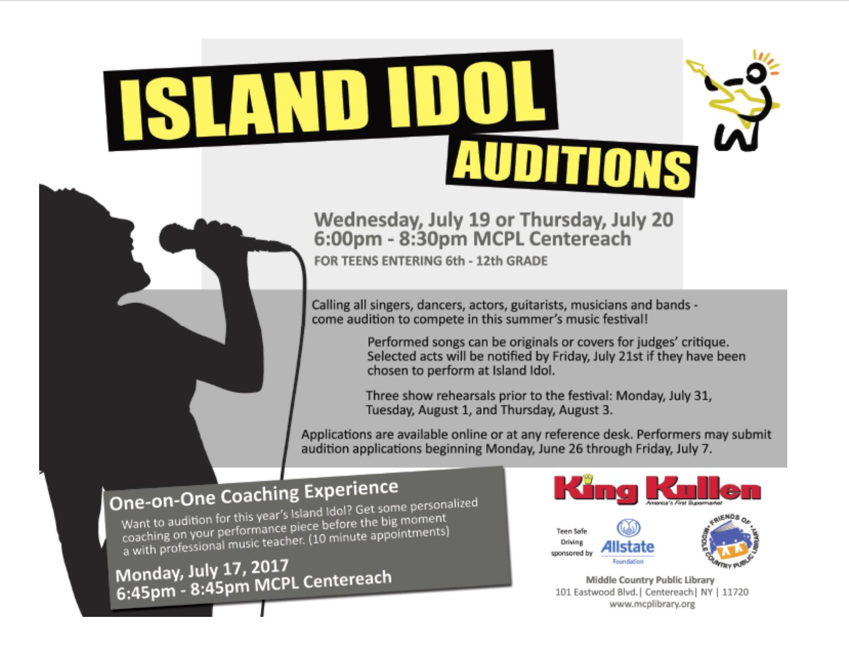 Island Idol Flyer