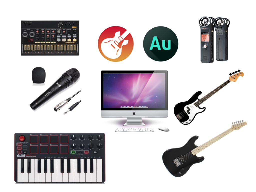 Images of Music and Podcasting Equipment